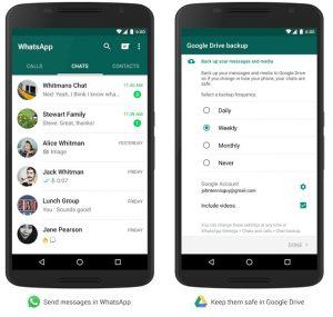 Ahora haga una copia de seguridad de los mensajes, fotos y videos de WhatsApp en Google Drive