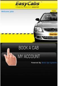 Ahora reserve taxis fácilmente con la aplicación móvil EasyCabs
