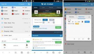 Ahora verifique los puntajes de IPL en vivo en la versión Cricket 2014 de UC Browser