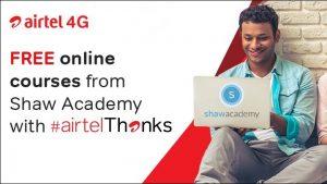 Airtel Thanks ahora ofrece cursos gratuitos en línea de Shaw Academy