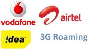 Airtel, Vodafone e Idea pidieron abolir los pactos de roaming 3G
