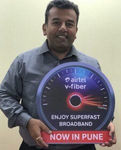 Airtel lanza el servicio V-Fiber con velocidad de 100 Mbps en Pune