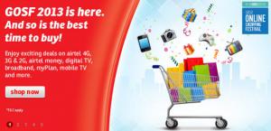 Airtel trae interesantes ofertas como parte del 'Great Online Shopping Festival 2013'