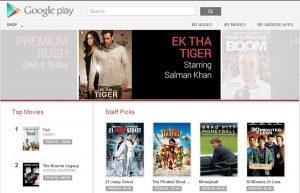 Alquiler / compra de películas ahora disponible en Google Play Store en India