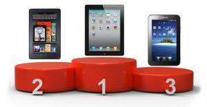 Amazon empuja a Samsung al tercer lugar en ventas de tabletas, Apple aún gobierna