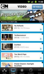 Android Market ofrece la aplicación de video Cartoon Network