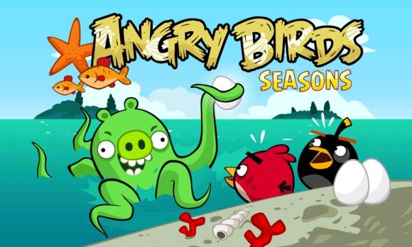Angry Birds Seasons obtiene un nuevo nivel actualizado y una nueva física de juego bajo el agua