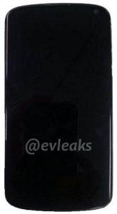 Aparece otra imagen del LG Nexus 4 junto con especificaciones, esta vez de evleaks