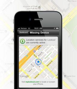 Aplicación Lookout para guardar tu iPhone y los datos