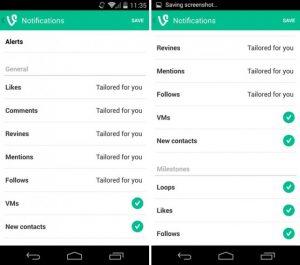 Aplicación Vine para Android actualizada con nuevas opciones de notificación, grabación de video mejorada y más