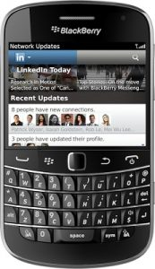 Aplicación de LinkedIn para smartphone BlackBerry actualizada a v2.0