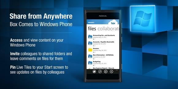 Aplicación de lanzamiento de caja para Windows Phone