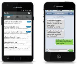 Aplicación de mensajería Hub lanzada por Yahoo