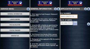 Aplicación oficial 'mPassport Seva' para Android del Ministerio de Asuntos Exteriores