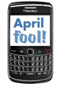 Aplicaciones de April Fools para dispositivos BlackBerry