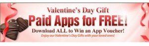 Aplicaciones de pago gratuitas para propietarios de Samsung Android y bada este San Valentín