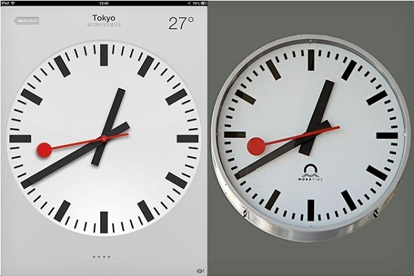 Reloj suizo de manzana