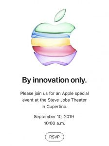 Apple envía invitaciones a los medios para un evento el 10 de septiembre para lanzar el iPhone 11