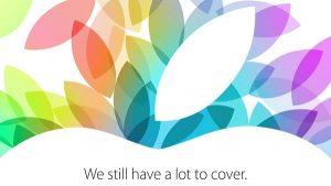 Apple invita al evento del 22 de octubre;  Anuncio de lanzamiento de iPad 5 y iPad Mini 2