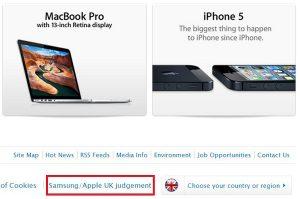 """Apple publica la carta de """"Samsung no copió el iPad"""" en su sitio web del Reino Unido, también recibe un golpe"""