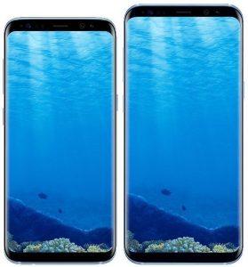 Aquí están los Samsung Galaxy S8 y S8 + en color Coral Blue