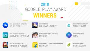 Aquí están los ganadores de los premios Google Play Awards 2018