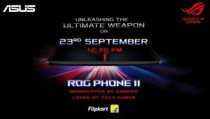 Asus ROG Phone II está listo para lanzarse en India el 23 de septiembre