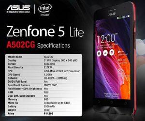 Asus Zenfone 5 Lite con procesador Intel Atom de doble núcleo anunciado