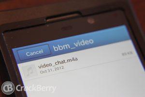 BBM Video podría llegar con BlackBerry 10