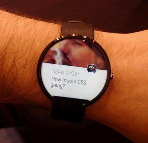 BBM llegará pronto a los dispositivos Android Wear
