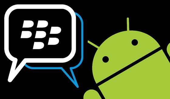 Logotipo de maqueta de BBM para Android
