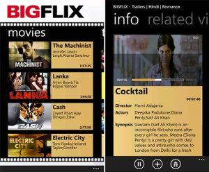 BIGFlix lanza su aplicación para Windows Phone