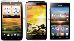 Batalla de los cuatro núcleos: HTC One X v / s LG Optimus 4X HD v / s Huawei Ascend D Quad XL