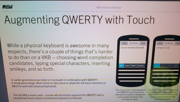 BlackBerry 10 N-Series para deshacerse del trackpad óptico y combinar la pantalla táctil con el teclado