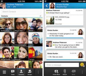BlackBerry Messenger para iOS se lanzó antes que Android