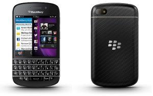 BlackBerry Q10 presentado con teclado QWERTY, pantalla de 3,1 pulgadas y sistema operativo BlackBerry 10