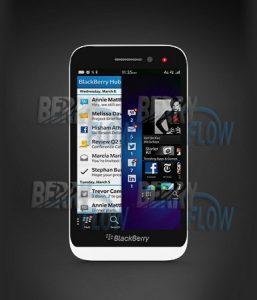Blackberry Z5 de nivel de entrada filtrado