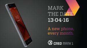 CREO Mark 1 se lanzará en India el 13 de abril