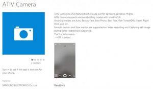 Cámara Samsung Ativ para Windows Phone 8.1 para traer HDR, videos en cámara lenta y más