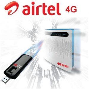 Características del módem USB Huawei habilitado para Airtel 4G y la puerta de enlace inalámbrica para interiores