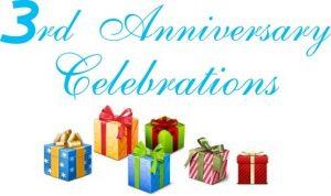 Celebraciones del tercer aniversario: gana tiempo de conversación gratis