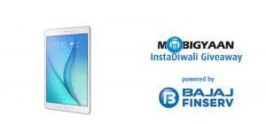 Celebre #InstaDiwali con Bajaj Finserv y MobiGyaan, aproveche la oportunidad de ganar un Samsung Galaxy Tab A