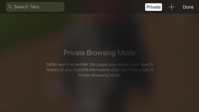 cómo utilizar la navegación privada iphone ipad 1600
