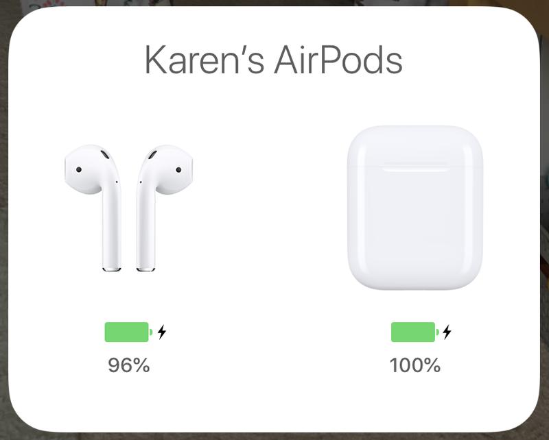 Cómo arreglar AirPods que se desconectan del iPhone: estado de la batería