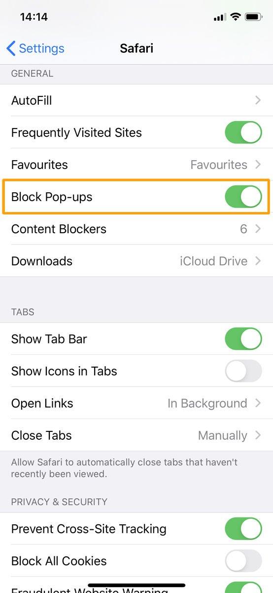 Cómo bloquear anuncios en iPhone y iPad: bloqueador de ventanas emergentes en Configuración