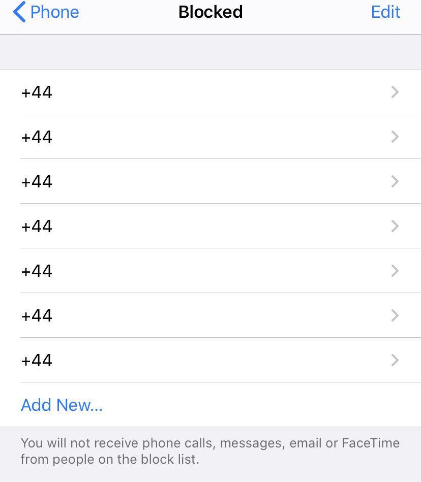 Bloquear llamadas en iPhone