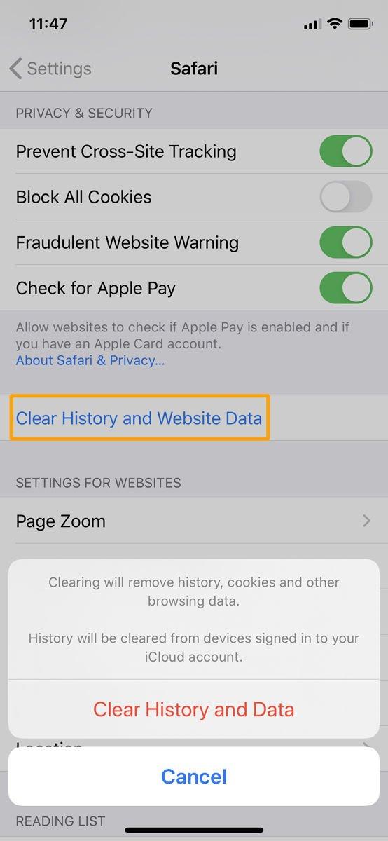 Cómo borrar el caché en iPhone o iPad: Borrar el historial y los datos de Safari
