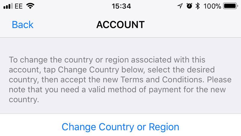 Cómo cambiar App Store a Reino Unido en iPhone y iPad