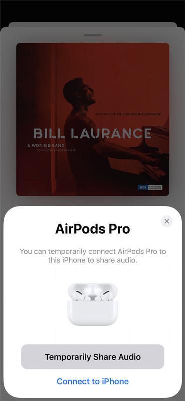 Cómo compartir audio con dos pares de AirPods: compartir temporalmente