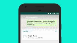 Cómo comprobar quién ha visto tu mensaje en el chat grupal de WhatsApp [Beginner's Guide]